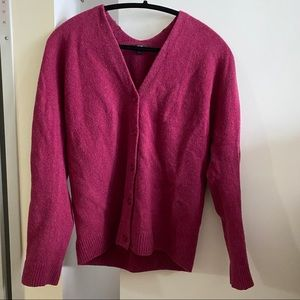 Uniqlo Wool 3D Knit Button Cardigan V Neck SIZE XS
